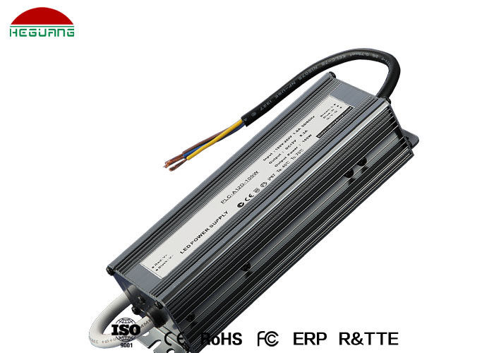 Black IP67 LED Power Supply 100W AC 110V Input Voltage DC 12V Output Voltage